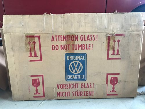 NOS type3 squareback front side windows in OG box