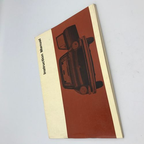owner's manual 8/1969 ENGLISH issue